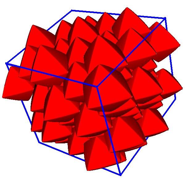 Superballs with p = 0.55